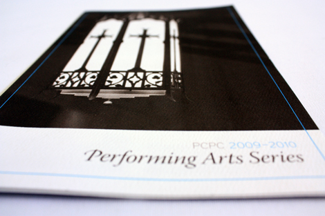 2009 performing arts series mailer cover photo