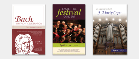 Performing Arts Series concert posters